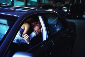 Couple Making Out in Car